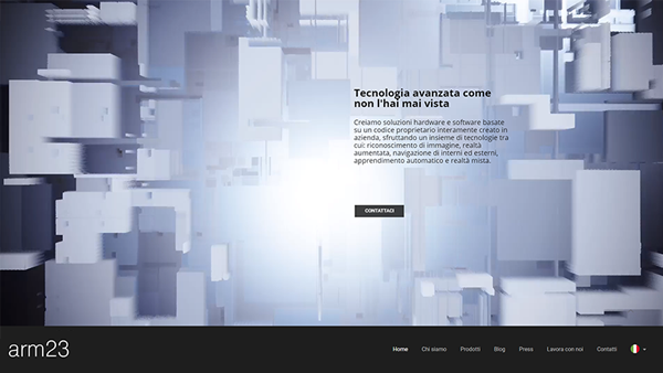 ARM23 sito web anteprima