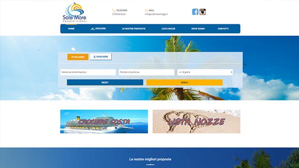 Sole Mare Viaggi sito web anteprima
