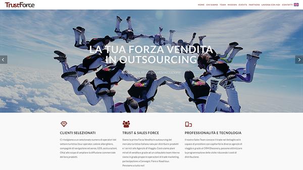 TrustForce sito web anteprima